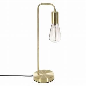 Lampe De Chevet Garçon : lampe de chevet en m tal dor avec ampoule apparente h46cm ~ Dailycaller-alerts.com Idées de Décoration