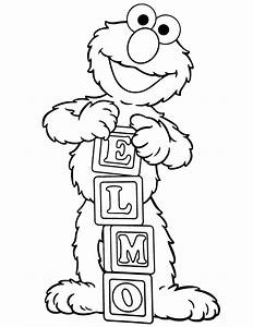 Elmo Coloring Pages   Only Coloring Pages