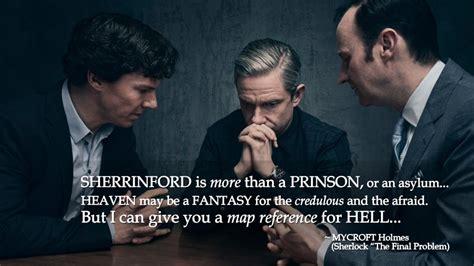 sherlock quotes problem final mycroft holmes sherrinford volganga saying