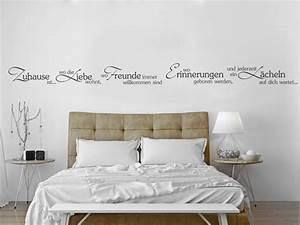Bilder über Bett : wandtattoo spr che umgestalten kreative ideen f r die wand ~ Watch28wear.com Haus und Dekorationen