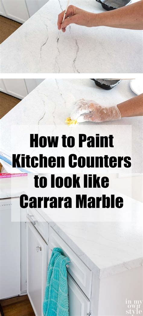 paint countertops to look like painting kitchen countertops to look like carrara marble