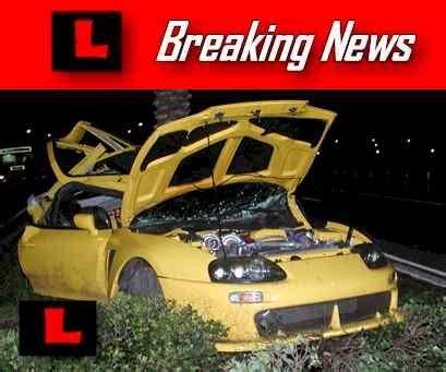 nick bollea car crashphotos  pictures nick hogan