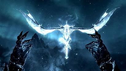 Skyrim Dragon Star Night Elder Wallpapers Scrolls