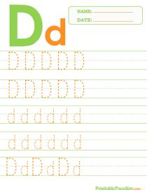 printable dotted letter tracing worksheets
