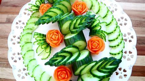 Art In Cucumber & Carrot Flower Skill