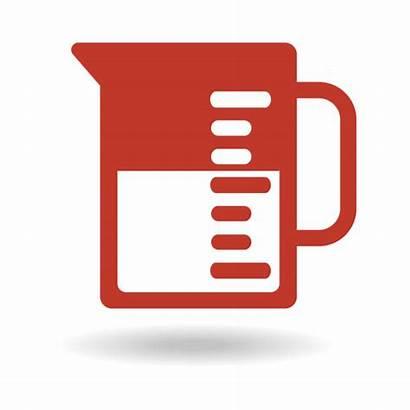 Beaker Volume Capacity Vector Fluid Clip Icon