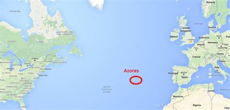 Azores World Map | Timekeeperwatches