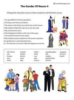 gender charts images english grammar gender
