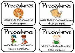 Procedure Writing Task Cards