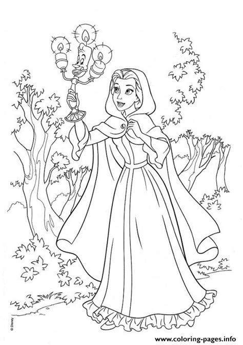 belle  lumiere   jungle  beauty  beast disney coloring pages printable