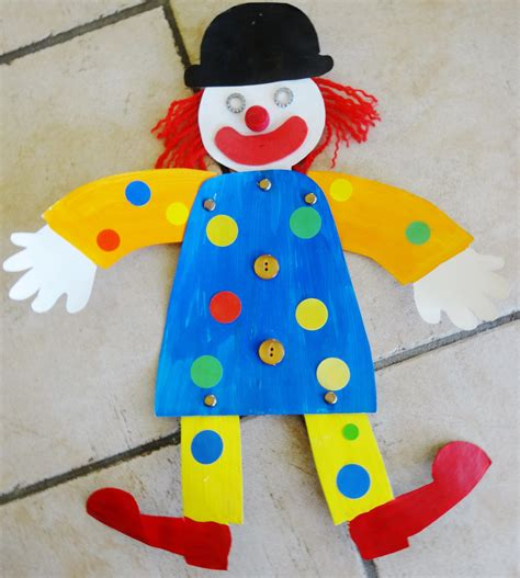 activite manuelle a faire a la maison 5 un petit clown pantin activit233s 224 la maison
