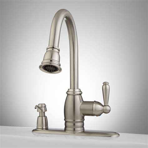 kitchen faucets with soap dispenser sonoma pull kitchen faucet with integral soap