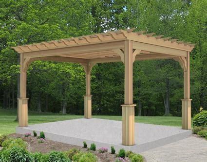 10 x 14 cedar deluxe 4 beam pergola for the new house