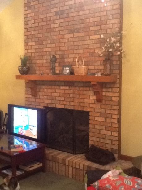 fireplace mantel move concrete stone masonry diy