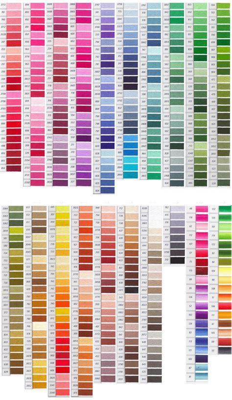 dmc color chart dmc color chart embroidery floss color charts