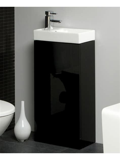 Space 40cm Black Floor Standing Unit & Cloakroom Basin