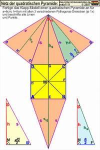Mantelfläche Pyramide Berechnen : mkb111 netz der quadratischen pyramide ~ Themetempest.com Abrechnung