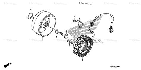 honda motorcycle 2010 oem parts diagram for alternator partzilla com