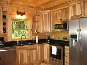 Hickory cabinets with granite countertops hickory for Kitchen cabinets lowes with wall art sculpture designs
