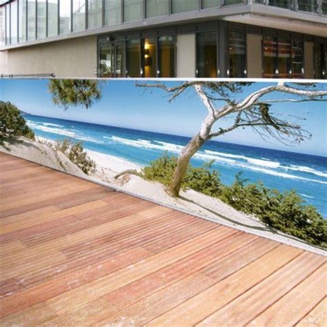 brise vue toile brise vue de jardin en polyester d 233 cor plage corse 500 x 100 cm