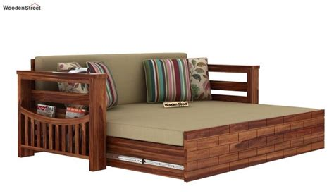 buy sereta sofa cum berth queen size irish cream teak
