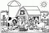 Farm Coloring Pages Sheets Animal Farmyard Farming Sheet Scenes Preschool Colouring Farmer Animals Ffa Template Til Printable Farms Print Emblem sketch template
