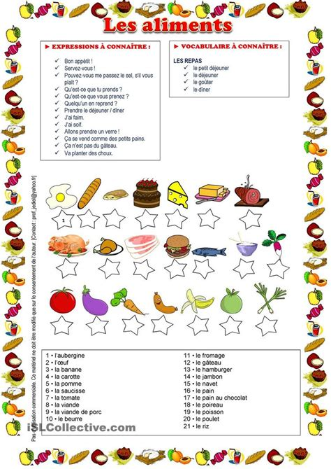 vocabulaire cuisine 17 best images about la nourriture on eten