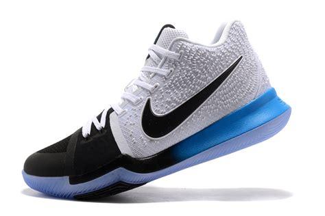 Nike Kyrie 3 White Black Blue Gradient Midsole  Jordans 2017