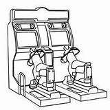 Coloring Pages Game Games Arcade Machine Claw Print Toy Printable Template Fun Way Toys sketch template