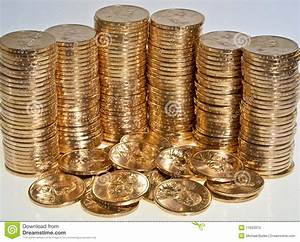 Stacks Of US Dollar Gold Coins Stock Image - Image: 11923373