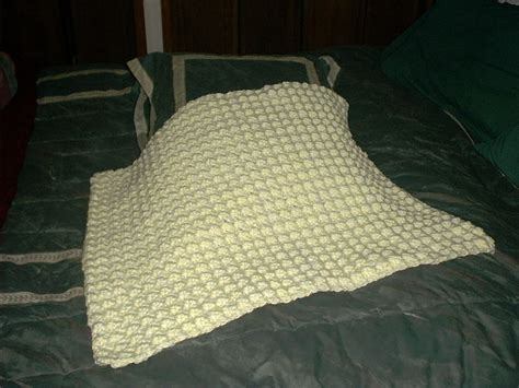 Crochet Using Double Strand Yarn Thick Baby Blanket · A Baby Blanket Comforter · Crochet On Cut