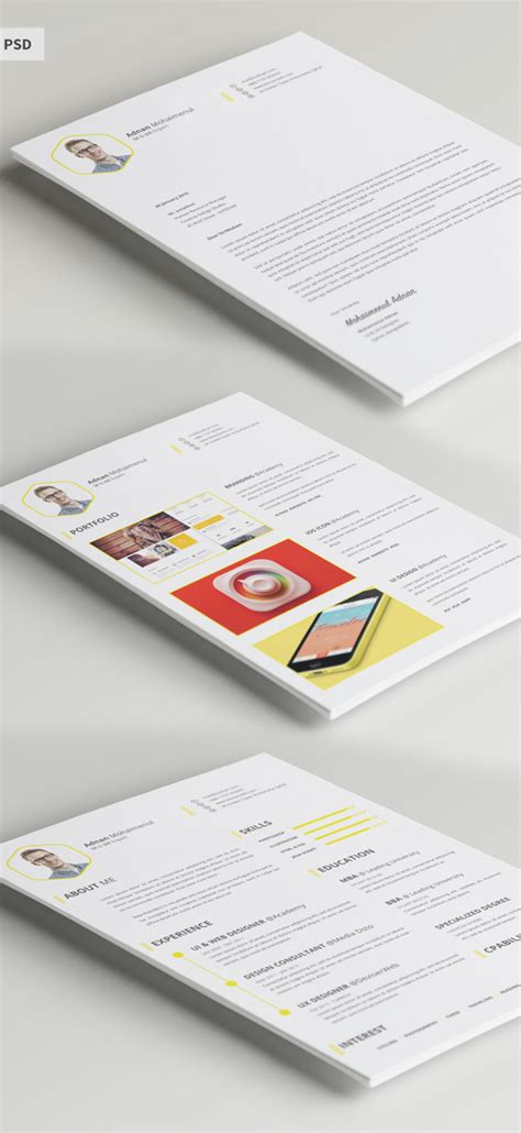 resume template psd free modern resume templates psd mockups freebies graphic design junction