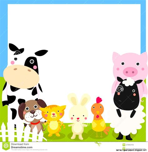 Animal Frame Wallpaper - farm animals clipart amazing wallpapers