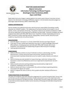 adjunct college professor resume sle professor resume sles