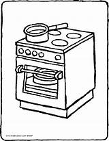 Cooker Coloring Colouring Stove Oven Drawing Kiddicolour Printable Pages Getcolorings Print Furniture Pag Receiver Mail 01v sketch template
