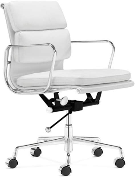 zuo modern 205041 showcase office chair in white