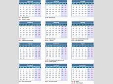 Kalendar sa neradnim danima u Hrvatskoj 2018 – Pravoslavni
