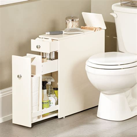 slim bathroom storage cabinet this narrow stylized bath cabinet is thin enough to fit