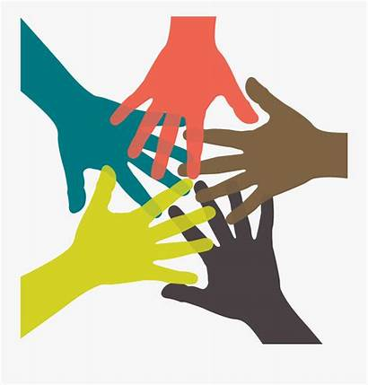 Together Working Clipart Team Five Transparent Icon