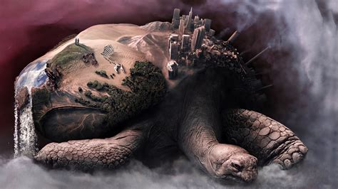 couple digital art fantasy art tortoises animals