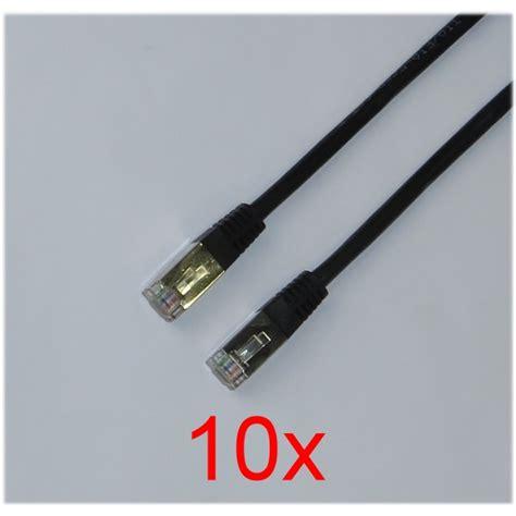 lan kabel 3m 10x lan patch kabel cat 5e 3m schwarz ftp rj 45 neu new computer 10041041