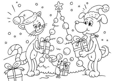 Kleurplaten Kerst Dieren by Kleurplaat Kerst Voor Dieren Afb 23373