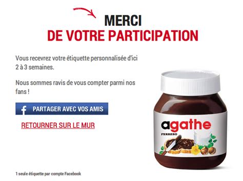 personnalisation pot de nutella nutella propose la personnalisation 224 ses clients my recettes