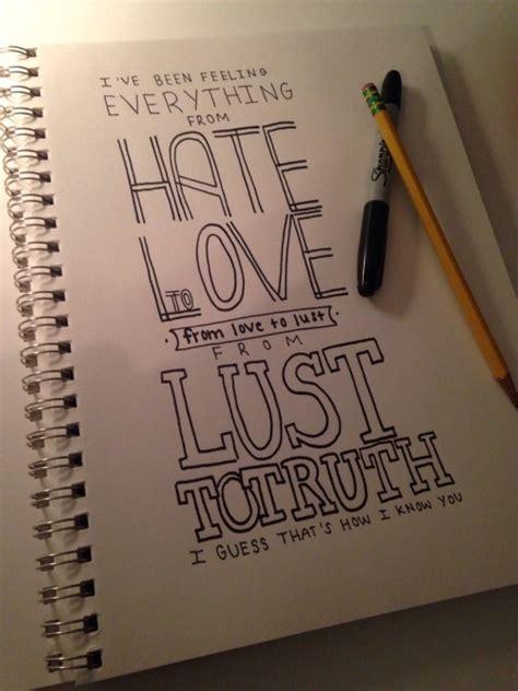 ed sheeran lyric drawings tumblr