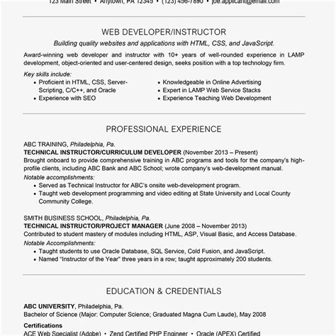 How To Write A Cv Exles by Professional Summary For Sql Developer The Best