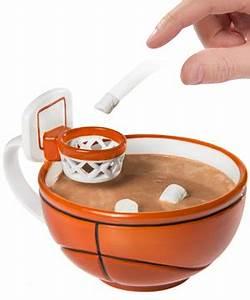 The Basketball Mug: Handcrafted Ceramic Mug with a Hoop