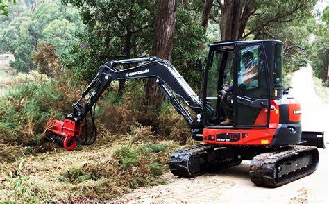 excavator mulchers  fecon excavators    forestry mulchers