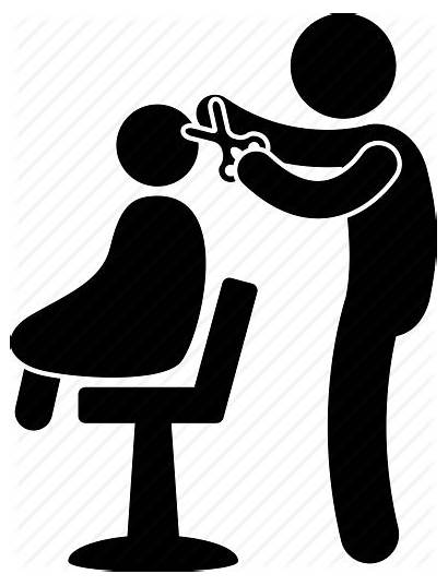 Barber Kid Hair Clipart Hairstylist Icon Cutting