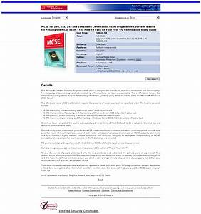 Mcse 70  290  291  293 And 294 Exams Certification Exam
