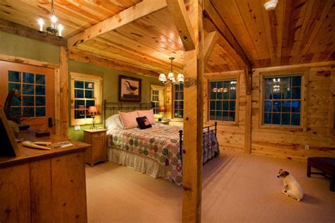 Montana Lodge Themed Barn Home  Traditional Bedroom